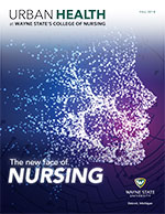 cover of the 2018 urban health nursing magazine